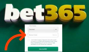 Login bet365 et obtenir bonus code