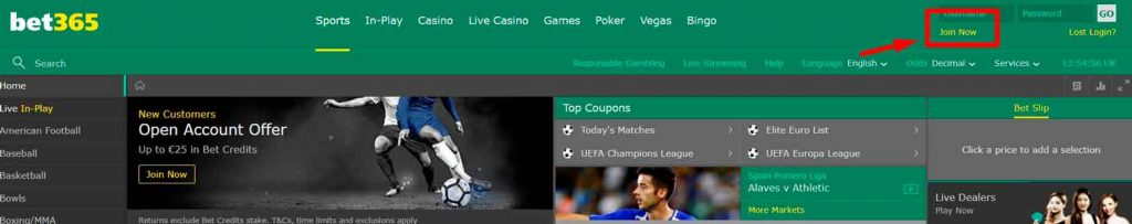 Bet365 Inscription en cote d'ivoire